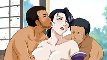 Big nipples Japanese hentai gangbanged by ghetto a
