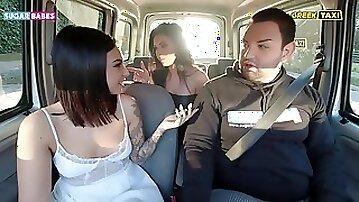 SUGARBABESTV: Greek fake lesbian taxi