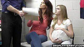 Mall Cop Arrests Fake Pregnant Stepdaughter & MILF