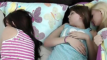 Man tries hard to go unnoticed scoring sleeping babes