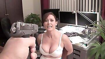 Hot busty MILF bizarre fetish video