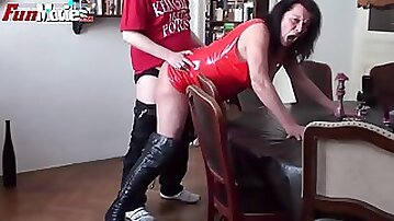 Ugly hairy granny gets some action after a long time