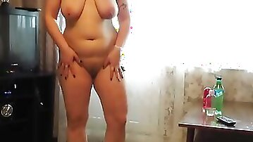 Fucking with a bottle, anal and vaginal fisting mature woman