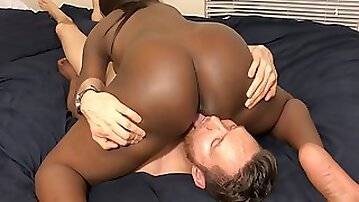 Black Teen Step Sister Sits On My Face Rides My Cock With Ass Cumshot