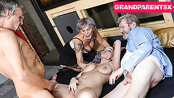 Grandparents Switch From Glory Hole to Fucking Teen