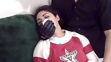 Cheerleader Ayumi Chloroformed and Massaged