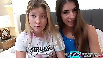 3Some Coition With Wife and Step-Daughter Ends In Deep Creampie!