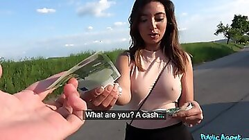 Aroused chick likes sucking dick for money and the fucking is for free