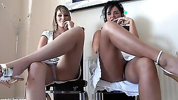 Two British Babes Tell You Off For Looking Up Their Skirts