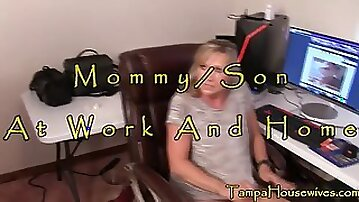 Mommy-Son at Work and at Home