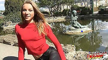 GERMAN SCOUT - Skinny College Coed Emily Seduce to Hump