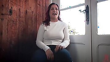 Chubby redhead Mona Wales tied up and abused hardcore
