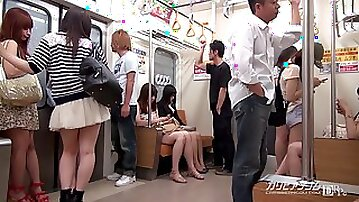 Tsuna (Tuna) Kimura - Time Fuck Bandits At A Train