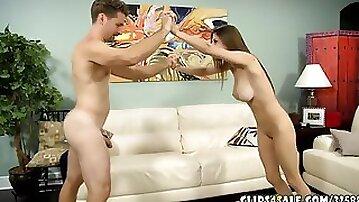 Daddy daughter wrestle