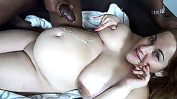 Chubby white wife cant get enough of her black neighbor and his massive johnson