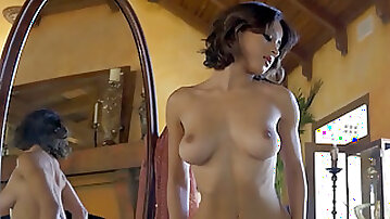 Big melons mom dancing in lingerie and naughty striptease