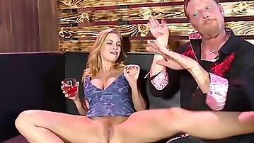 Busty milf gets drunk and slutty with cock in a jaw dropping hard fuck