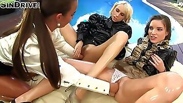 Oil Lesbian Babes Are Outside Having Fun Fisting Butt