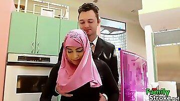 Arab daughter got bro's cock
