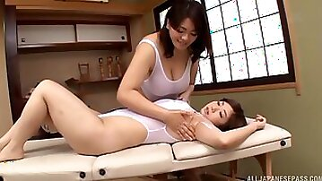 Sensual lesbian sex between An Mitsuki and her best friend