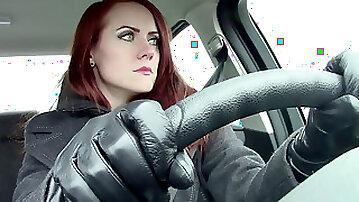 Madalynn Raye Leather Gloves and Burping
