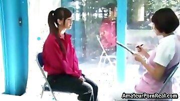 Fucked Pretty Japanese Girl Massage Glass Room
