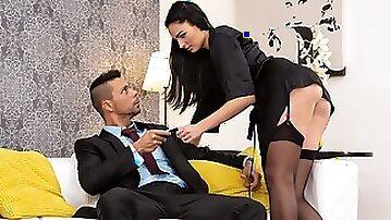 Posh Black Stockings & Pantyhose on Seductress