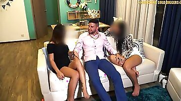 Amazing Threesome With Two Hot Bubble Butt Thai Teens In Thailand Vip Night Club