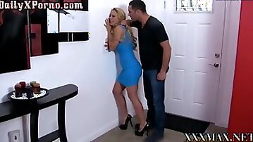 Stunning busty mom gets dominated and rougly fucked by her stepson