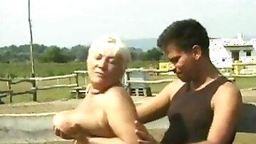 Grandma Helga hostess depraved farm