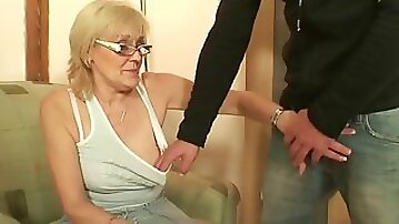 Guy finds out his motherinlaw is horny old bitch!