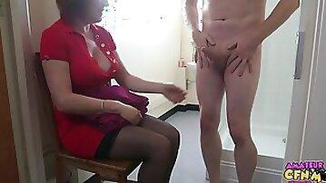 Aunt Cfnm - Best Hand Job