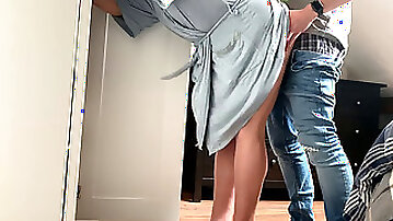 Harmless gf pulverized from Behind while Getting Dressed - she moans