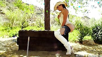 Cock hungry slut Sheena Ryder fucked in all of her holes. HD