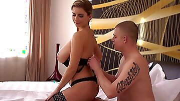 Hot European woman is busy servicing lovers dick