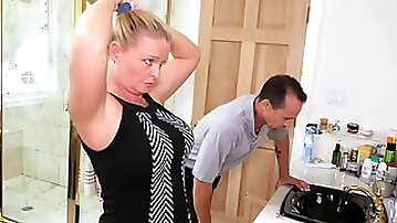 FamilyStrokes - Daughter Fucks Step-Dad While Mom Showers