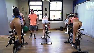 Rose Monroe gets her big ass rimmed and fucked by her spin class instructor