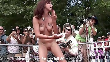 Graphic Pussy Gaping At The Miss Nude USA Pageant