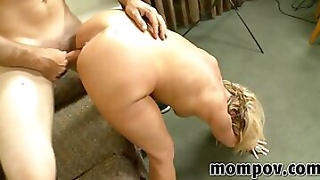 Double dicking for a mature blonde bitch