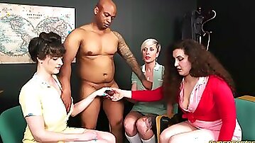 Katie Olsen, Lili Miss Arab And Tanya Virago - foursome CFNM femdom