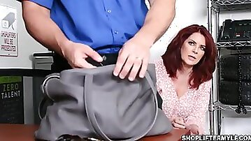 Banging with a hot shoplifter MILF Andi James - Big tits