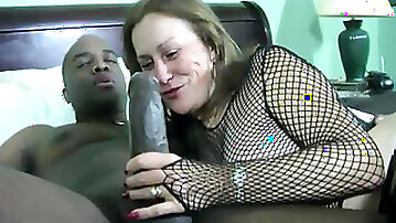 Grandmother Bring BIG BLACK CHOPPER into Her Bedroom