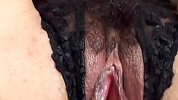 Sexy MILF in Lingerie Humps a Dildo