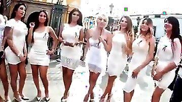 T-damsels outdoors milky dresses