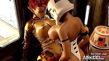 Affect3D  Star Whores 3D Futanari Animation