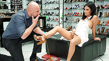 Shameless Exotic Babe At The Brazzers If The Shoe Fits