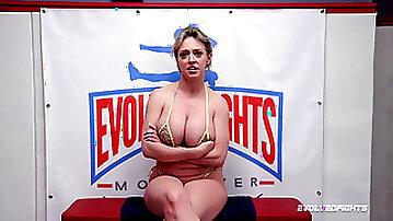 Dee Williams bare wrestling vs a boy sucking cock