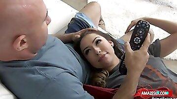 Naughty daughter seduces her stepdad!