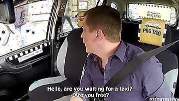 Freaky taxi driver gets to fuck his sexy Czech passenger