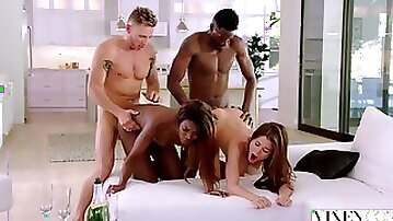 Foursome Interracial Sex Orgy